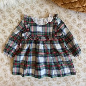 Baby Gap | tartan plaid ruffle dress